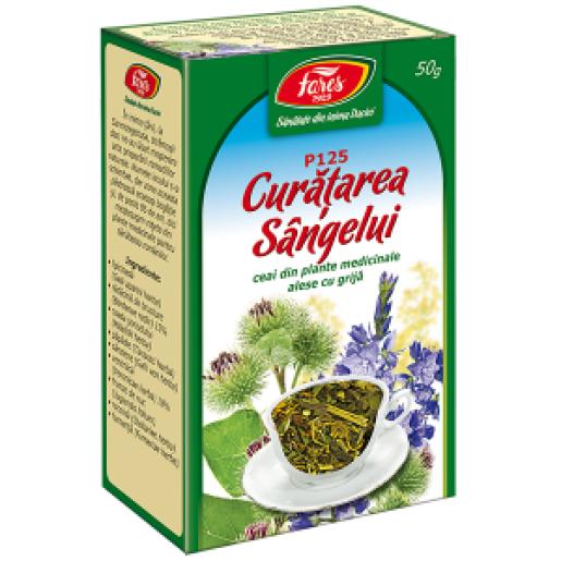 Curatarea sangelui ceai, P, 50 g, Fares - Farmacia Helena